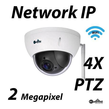 2 Megapixel 4X Mini IP PTZ WiFi