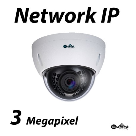 3 Megapixel Lite Dome IR IP Camera 2.8mm