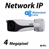 4 Megapixel Bullet IR IP Camera Motorized 2.7-12mm