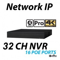 32 Channel NVR 4K 16 E-POE Pro 4HDD