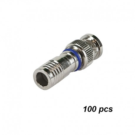 BNC compression connectors (Silver)