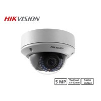 Hikvision 5MP Vandal-proof Varifocal 2.8-12mm Network Dome Camera