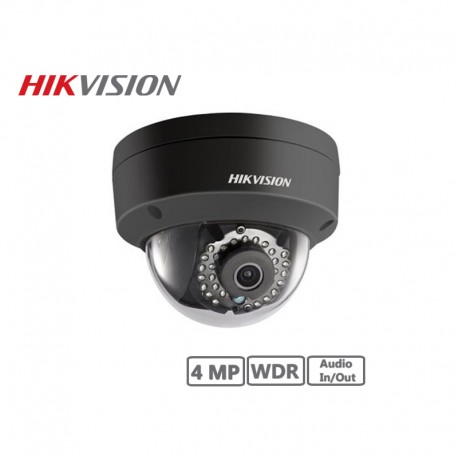 Hikvision 4MP Fixed Dome Network Camera (Black)