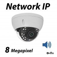 8 Megapixel Dome IR IP Camera 4mm