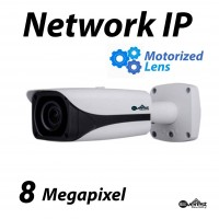 8 Megapixel Bullet IR IP Camera Motorized 7-35mm