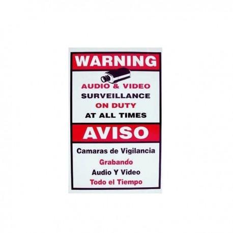 CCTV Warning Sign  - Large