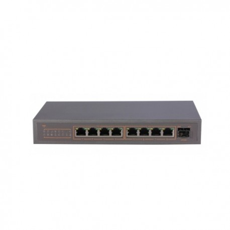 9 Channel Switch with 8 PoE and 1 Gigabit uplink port