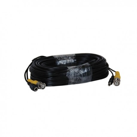 Siamese cable with audio 100ft (black)