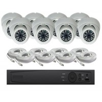 8 Channel HD-TVI Dome KIT