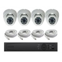 4 Channel HD-TVI Dome KIT