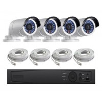 4 Channel HD-TVI 1080p Bullet KIT