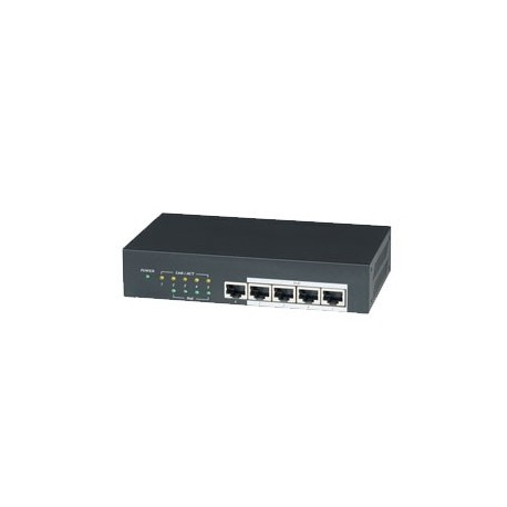5 Channel Switch with 4 PoE 62W